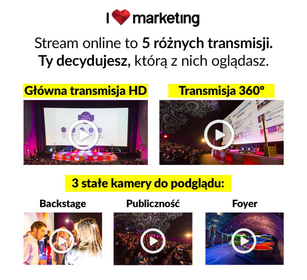 Transmisja online I love Marketing