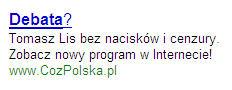 Link sponsorowany CozPolska Wybory 2007
