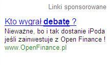 Link Sponsorowany OpenFinance Wybory