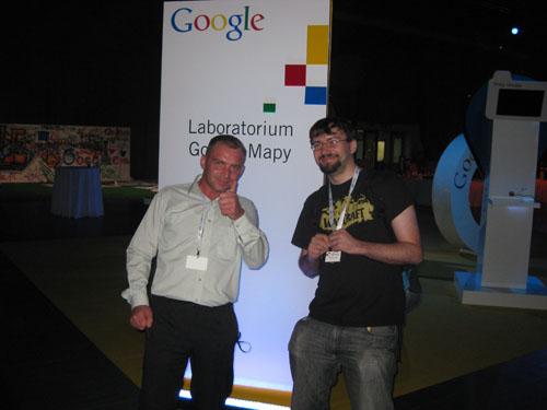 Szook Mariusz Janczuk oraz Bartek Krzemień na Google Day 2008