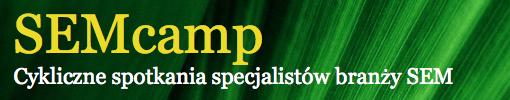 Logo SEMcamp - Cykliczne spotkania specjalistów branży SEM