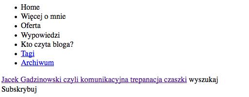 top bloga widziany w Google cache