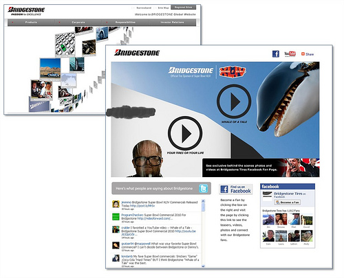 główne strony: bridgestone.com + bridgestone.com/superbowl