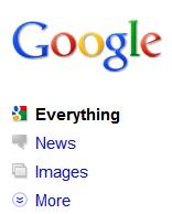 zrzut ekranowy nowego interfejsu wyszukiwarki google