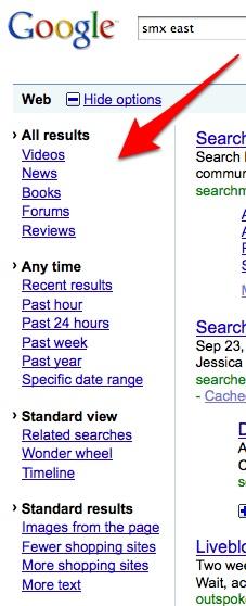 zrzut: stary interfejs i rozwinięte opcje wyszukiwania