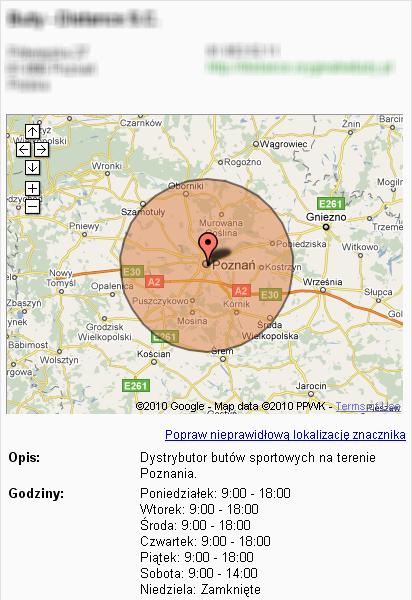 Centrum Firm Lokalnych - mapa