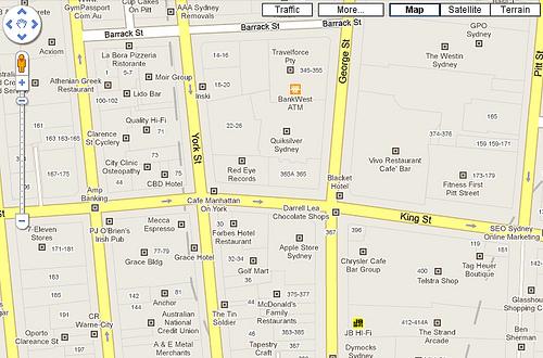ikony lokalnych biznesów w Google Maps