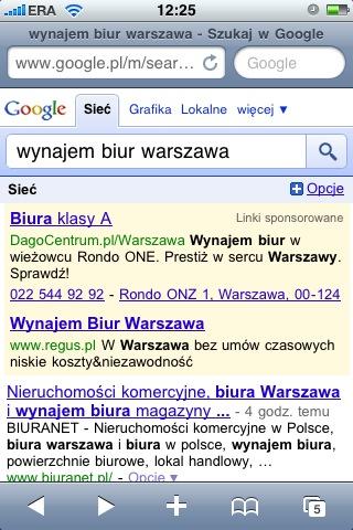płatne wyniki wyszukiwania na urządzeniach mobilnych: tak wygląda click-to-call