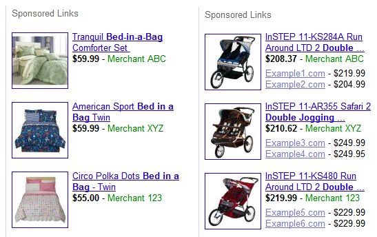 Google AdWords - product listings ads