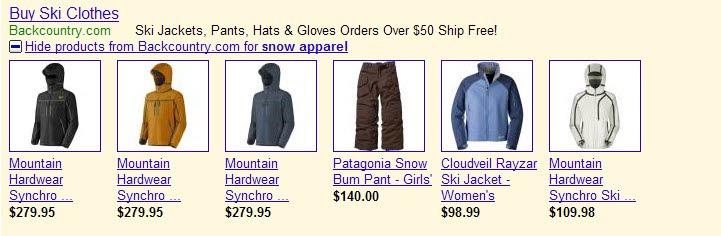 Google AdWords - rozszerzone wyniki dla produktów
