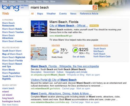 zapytanie lokalne - Bing - nowe