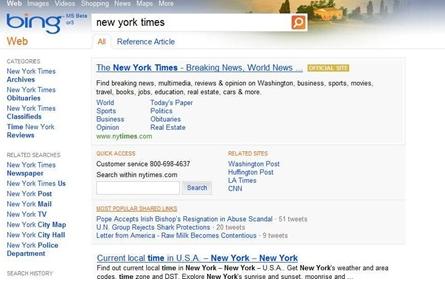 zapytanie newsowe Bing-nowe