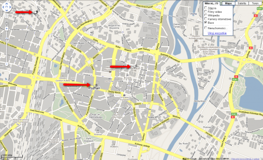 Google Buzz w Poznaniu - bezruch