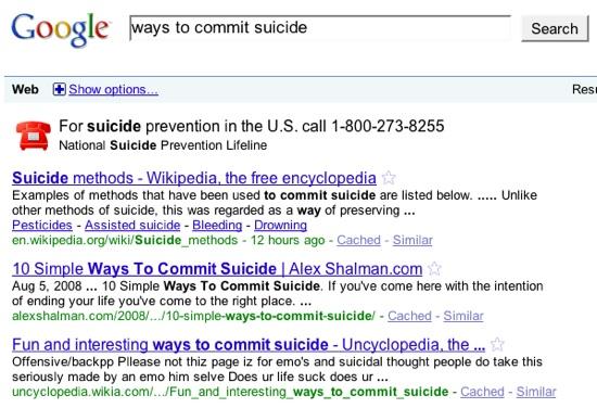 bezpośrednie odpowiedzi na pytania związane z samobójstwem