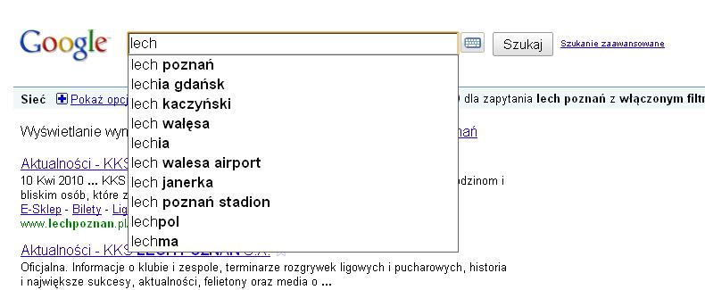 Google Suggest nie jest jeszcze lokalny