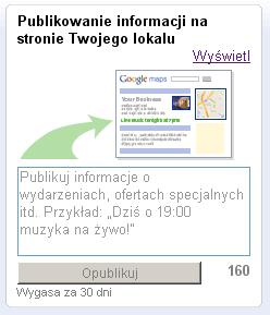 Miejsca Google - informacje do 160 znaków