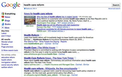 nowy interfejs SERPów - filtry - newsowy