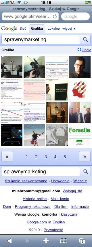 obrazy wyszukiwarka mobilna Google images