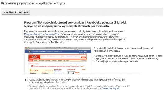 prywatność Facebook open graph