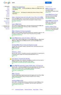 nowe SERP-y Google - niebieski przycisk Szukaj