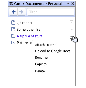 Chrome OS - menedżer plików