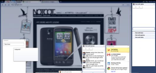 Chrome OS - panele