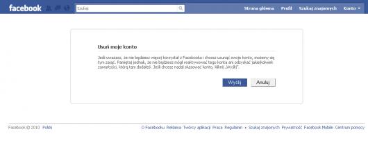 Jak usunąć konto na Facebooku - czy jesteś pewien?