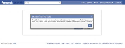 Jak usunąć konto na Facebooku - czas do namysłu