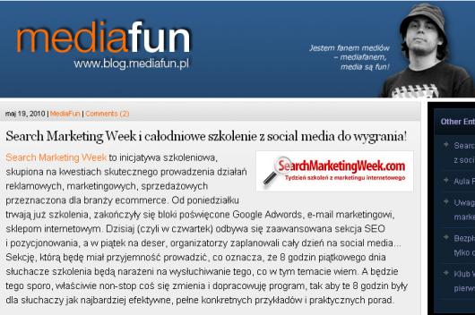 Mediafun promuje SearchMarketingWeek.com