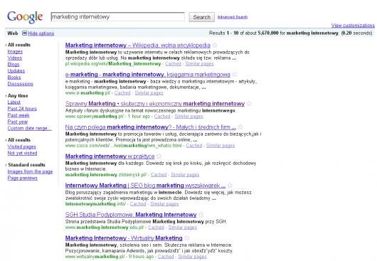 stary layout Google