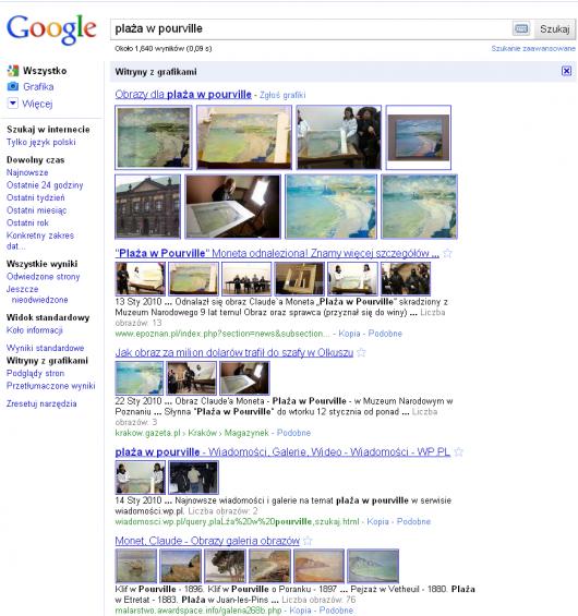 witryny z grafikami - lista wyników