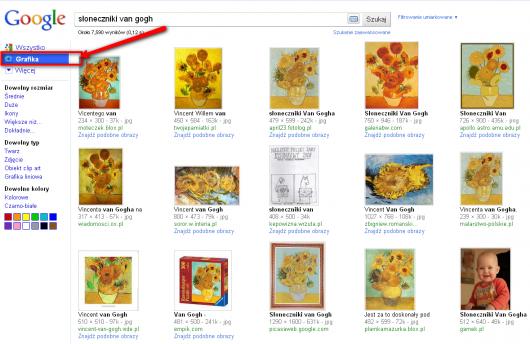 wyszukiwarka grafiki Google
