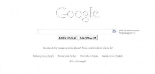 google białe tło adblock