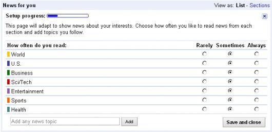 google news personalizacja