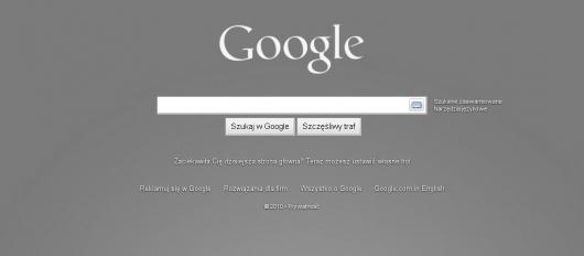 google szare tło