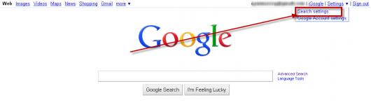 google ustawienia