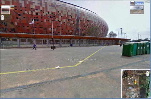 Street View Johannesburg - od zewnątrz