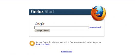 strona startowa firefox