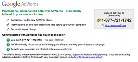Google asystuje przy kampaniach AdWords