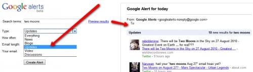 realtime w google alerts