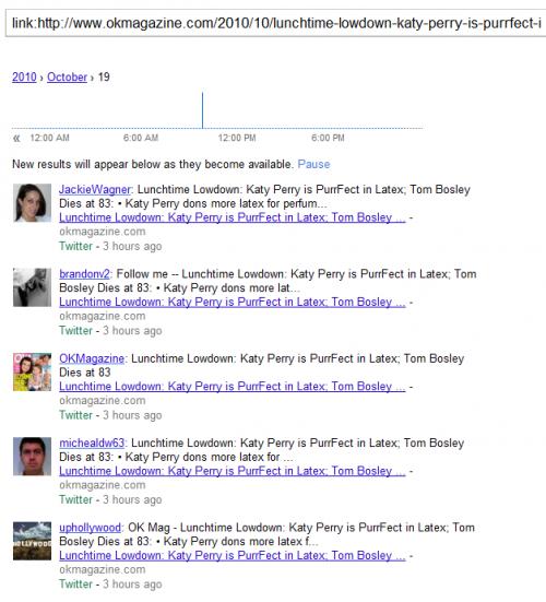 """Google Realtime Search - lista użytkowników """"shareujących"""" danego newsa"""