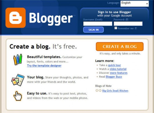 gówna strona Bloggera