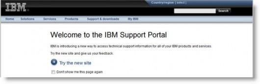 przekierowanie na jednej z podstron witryny IBM