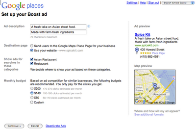 Jak uruchomić Boost Ads - formularz rejestracyjny