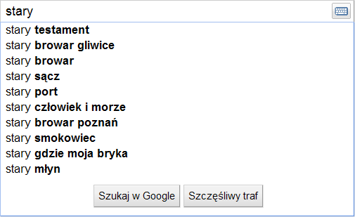 """podpowiedzi suggest dla """"stary"""" - lokalizacja Chorzów"""