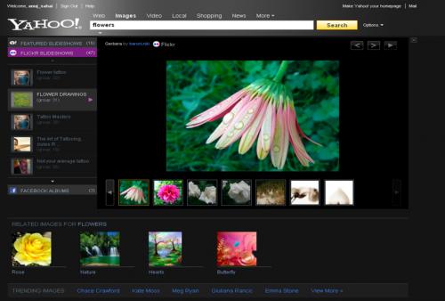 wyszukiwarka obrazków Yahoo