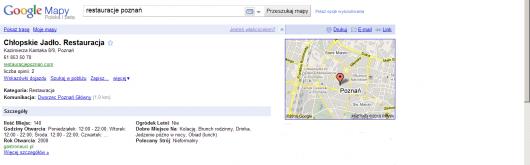 Miejsca Google