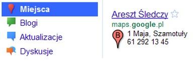 wyszukiwarka miejsc