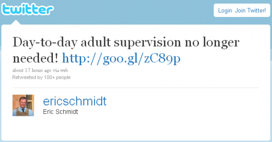 adult supervision no longer needed