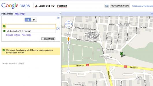 google maps pokaż trasę